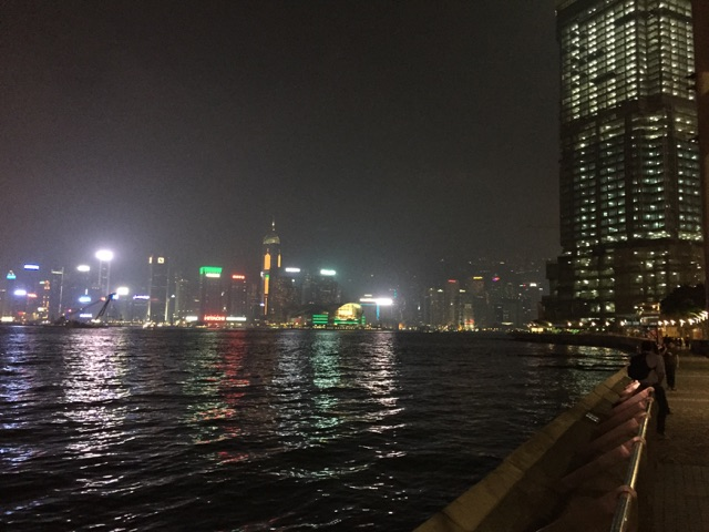 Victoria Harbor at night