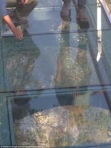 Brave Men's Bridge cracked glass