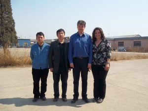 Mike and Michelle with President of Co. in China